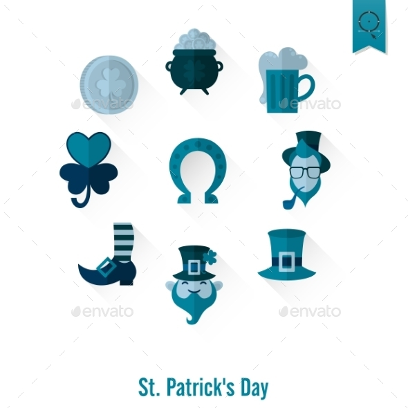 GraphicRiver Saint Patricks Day Isolated Icon Set 10723405