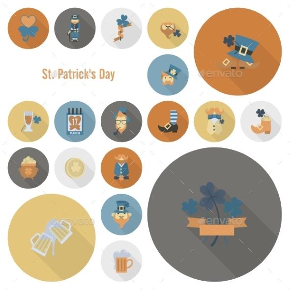 GraphicRiver Saint Patricks Day Icon Set 10723422