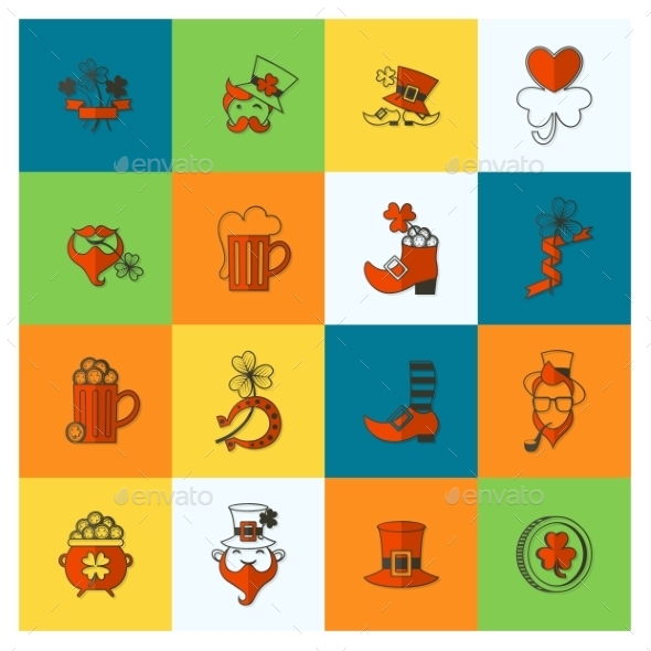 GraphicRiver Saint Patricks Day Icon Set 10723440