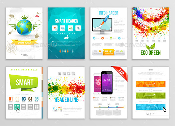 GraphicRiver Set of Flyer Brochure Background Banner Designs 10723627