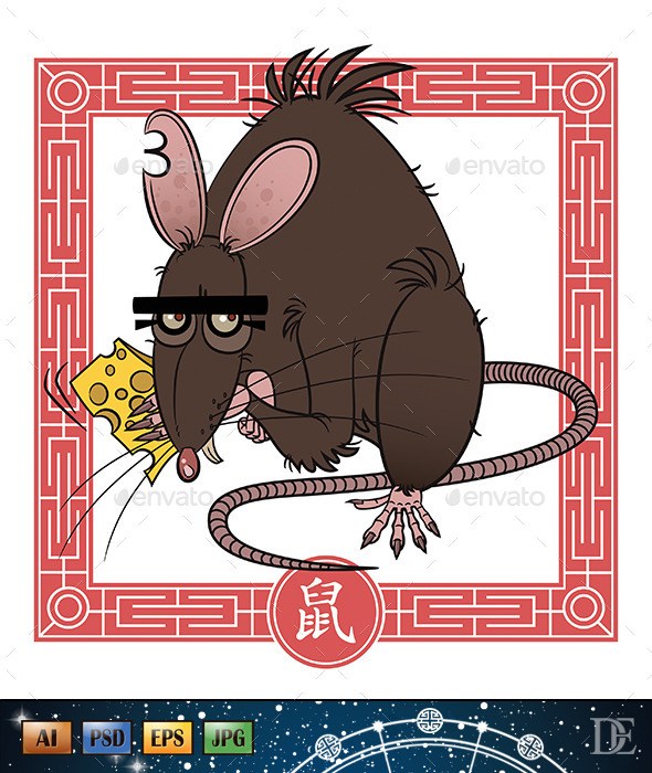 GraphicRiver Chinese Astrological Sign Rat 10723778