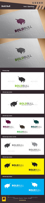 GraphicRiver Bold Bull Logo Template 10724195