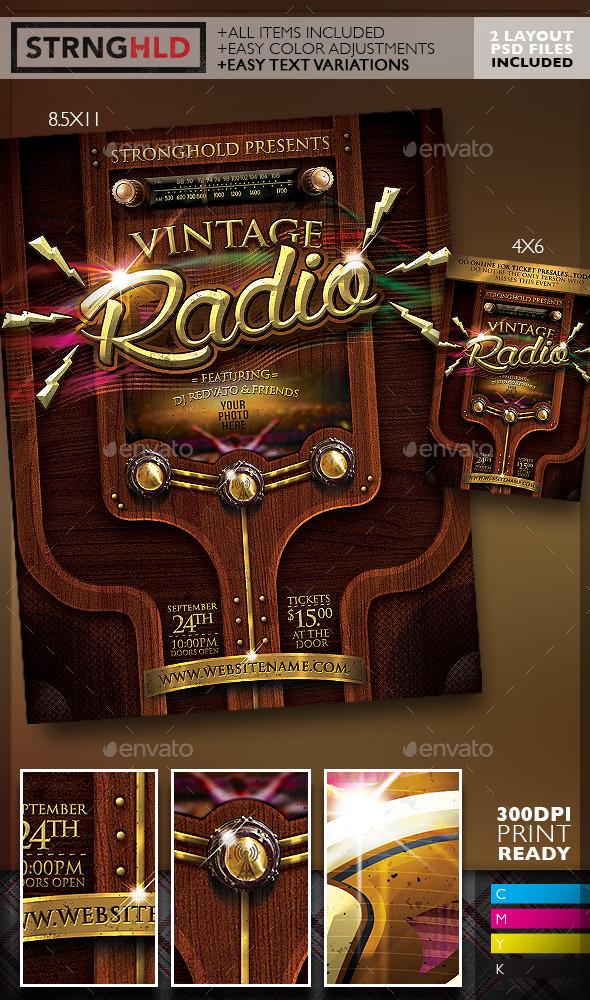 GraphicRiver Vintage Radio Event Flyer 10724506
