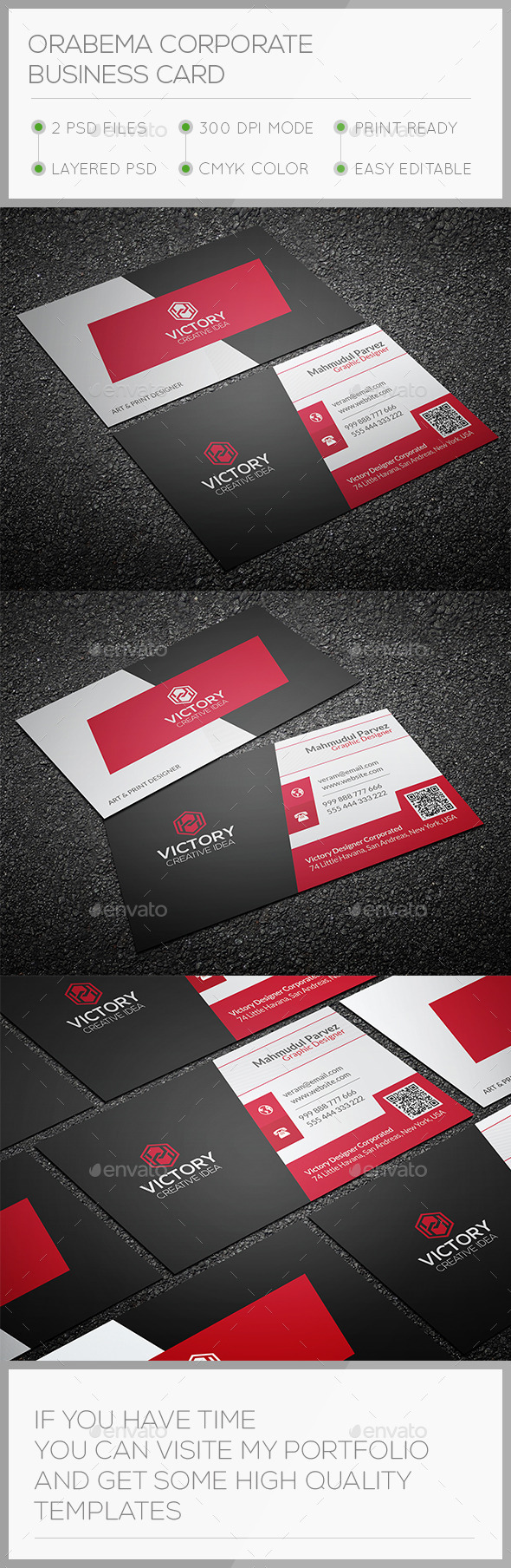 GraphicRiver Orabema Corporate Business Card 10724513