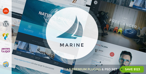 Marine Responsive WordPress Theme Multi-Purpose - Business Corporate