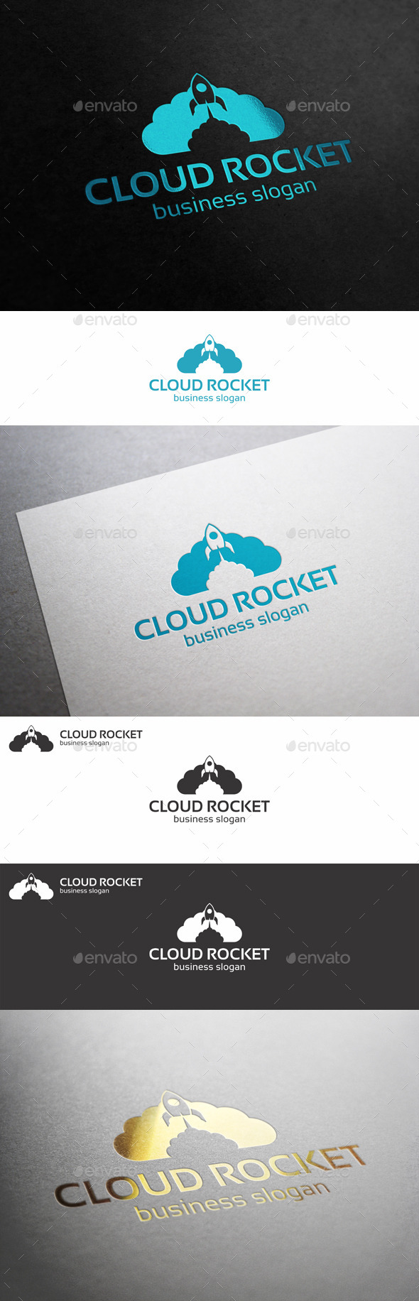 GraphicRiver Cloud Rocket Logo 10724987