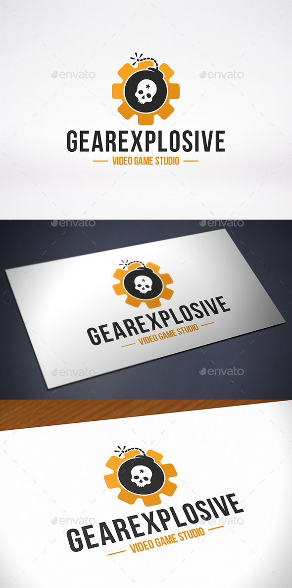 GraphicRiver Gear Bomb Logo Template 10725344
