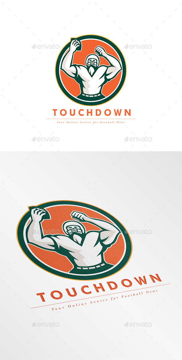 GraphicRiver Touchdown Football News Agency Logo 10729692