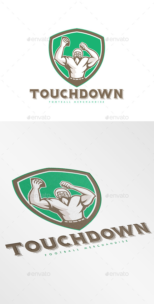 GraphicRiver Touchdown Merchandise Logo 10729698
