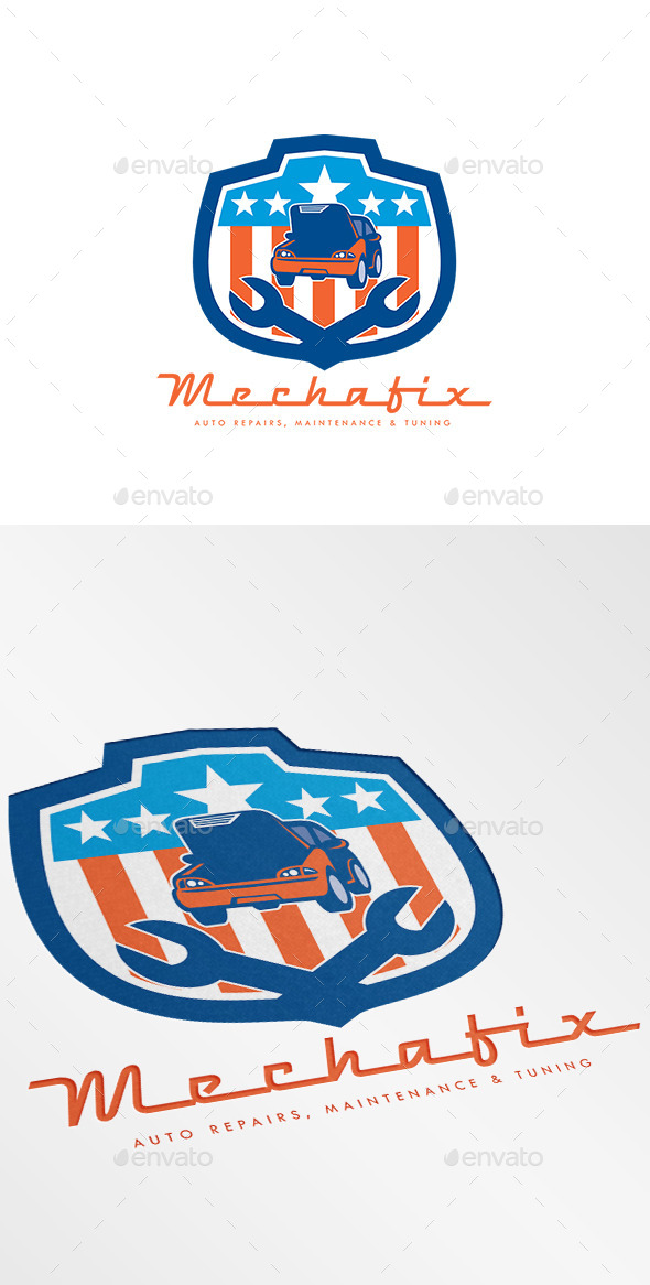 GraphicRiver Mechafix Car Auto Repairs Logo 10729806