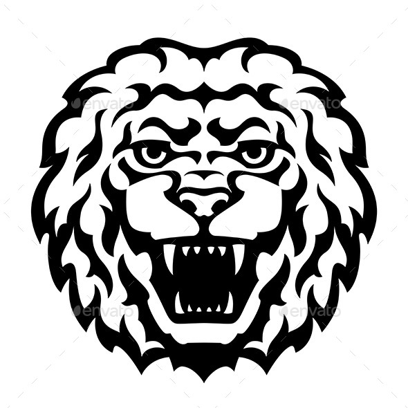 GraphicRiver Lion Head Tattoo 10729810