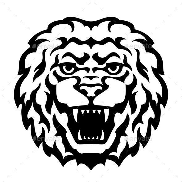 GraphicRiver Lion Head Tattoo 10729810