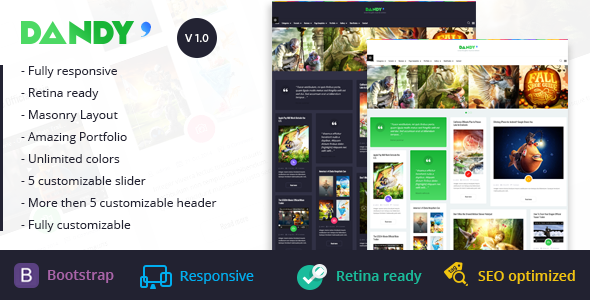 ThemeForest Dandy Clean & Modern WordPress Theme 10368160