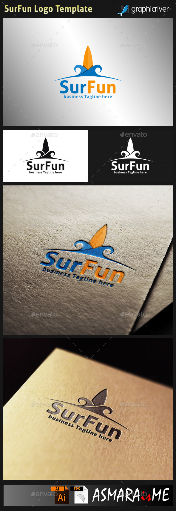 GraphicRiver Surfing Logo 10729956