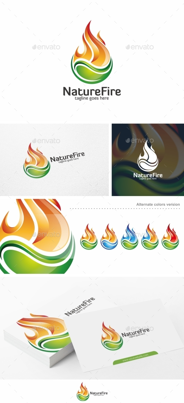 GraphicRiver Nature Fire Logo Template 10729974