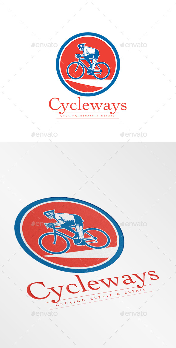 GraphicRiver Cycleways Cycling Repairs Logo 10730146