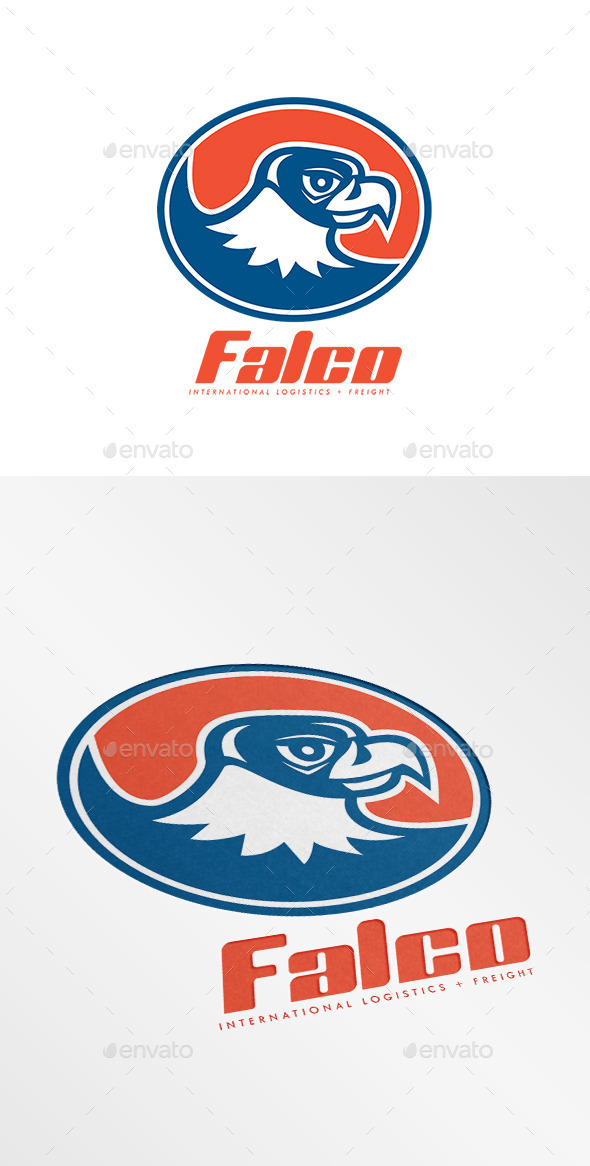 GraphicRiver Falco International Logistics Logo 10730215