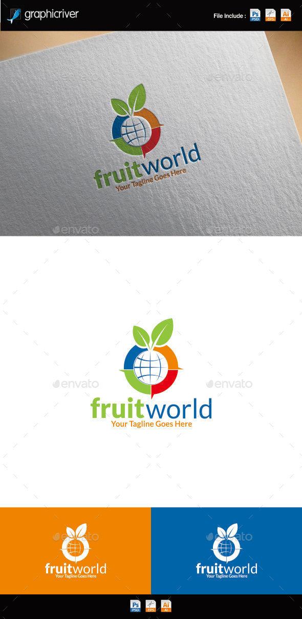 GraphicRiver Fruit World Logo Template 10730217