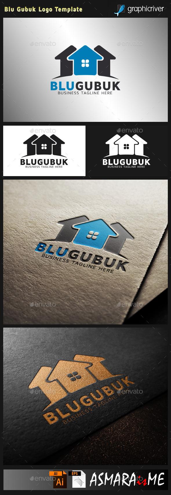 GraphicRiver Real Estate Logo Blu Gubuk 10730233