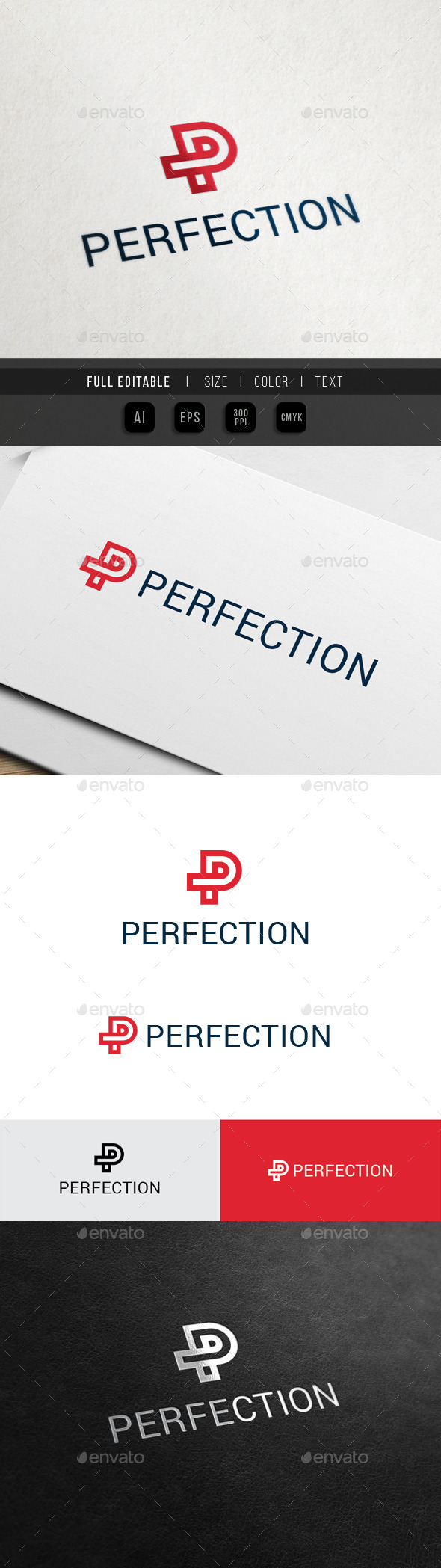 GraphicRiver Perfect Brand Letter P 10730316