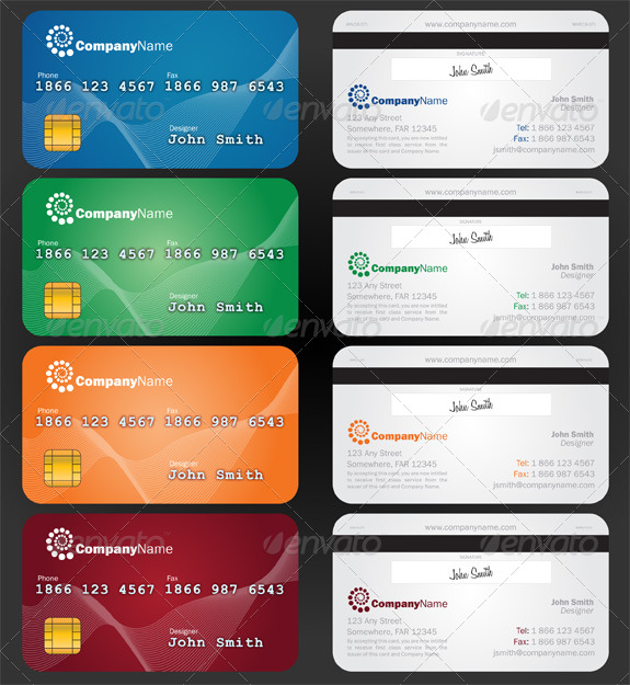 Credit Card Style Paper Business Card