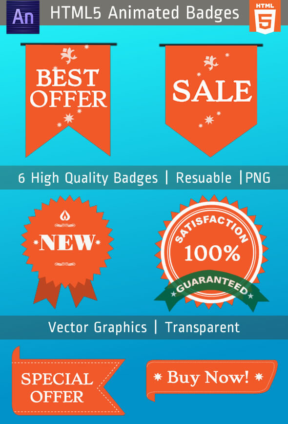 CodeCanyon Animated HTML5 Badges & Labels 10730340