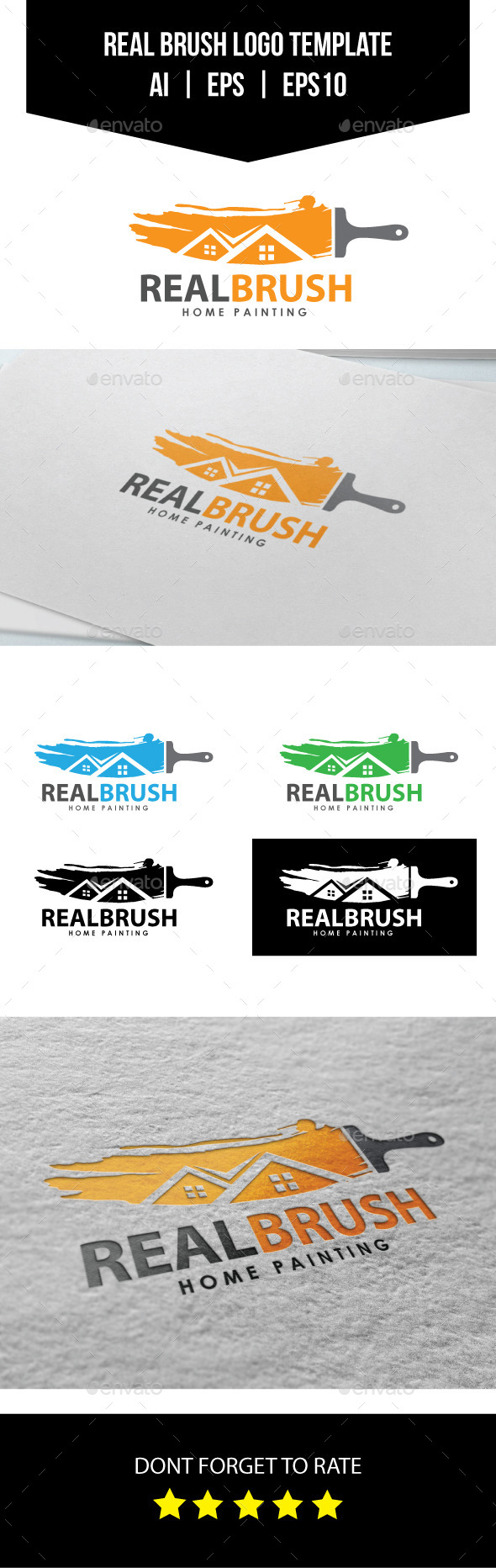 GraphicRiver Real Brush Logo Template 10730469