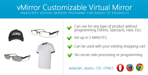 CodeCanyon vMirror Customizable Virtual Mirror 10714102