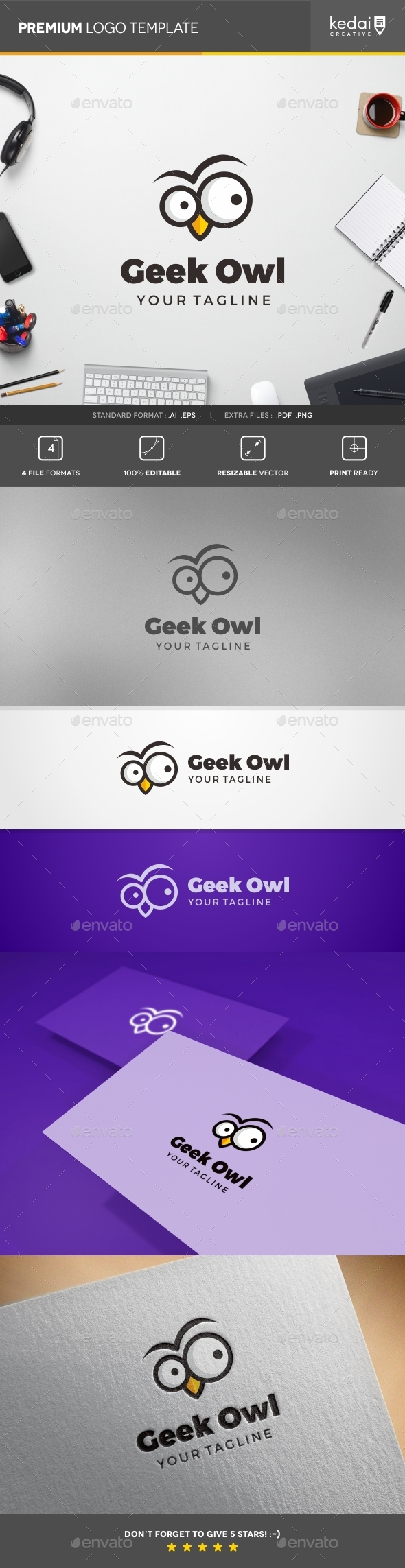 GraphicRiver Geek Owl 10730687
