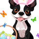 Boston Terrier with Easter Basket - GraphicRiver Item for Sale