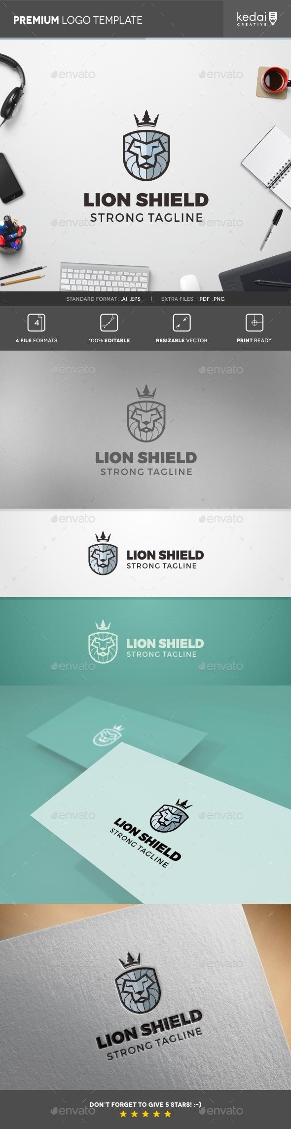 GraphicRiver Lion Shield 10730729