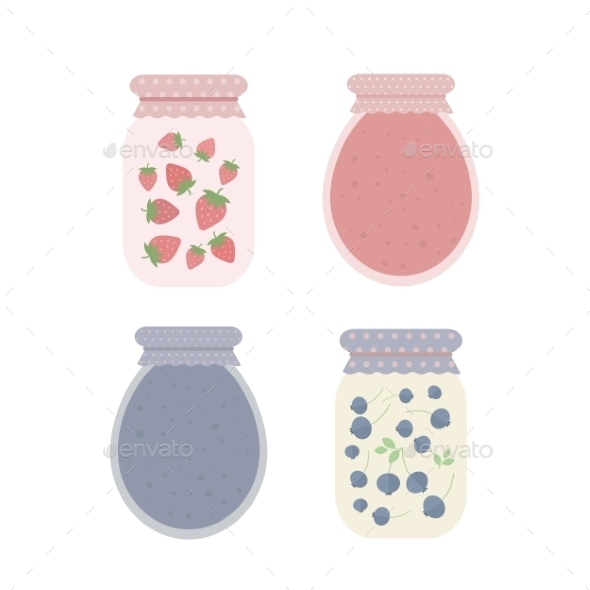 GraphicRiver Jars of Jam 10730814