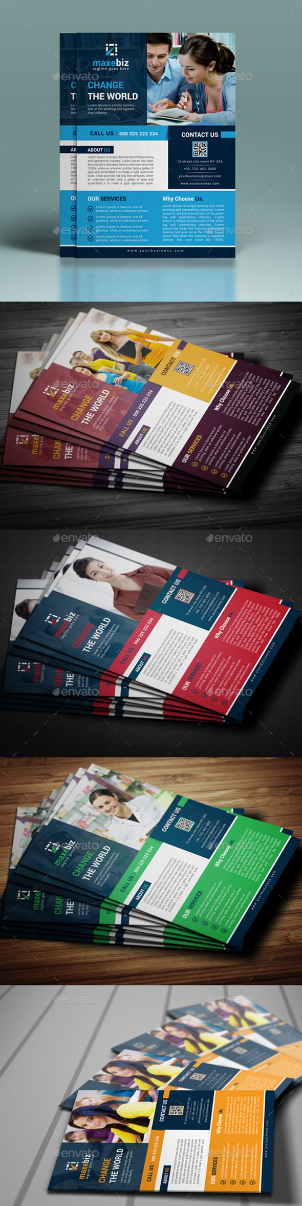 GraphicRiver Corporate Flyer Template 10730998