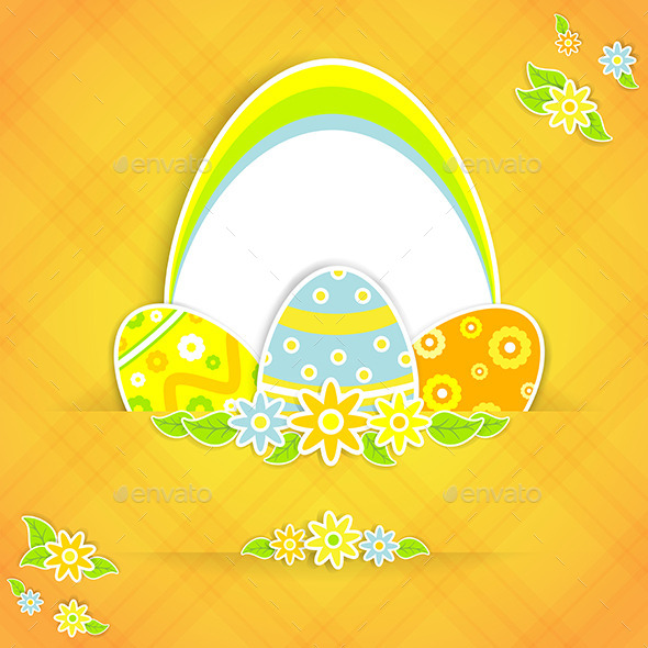 GraphicRiver Easter Background with Eggs 10731064