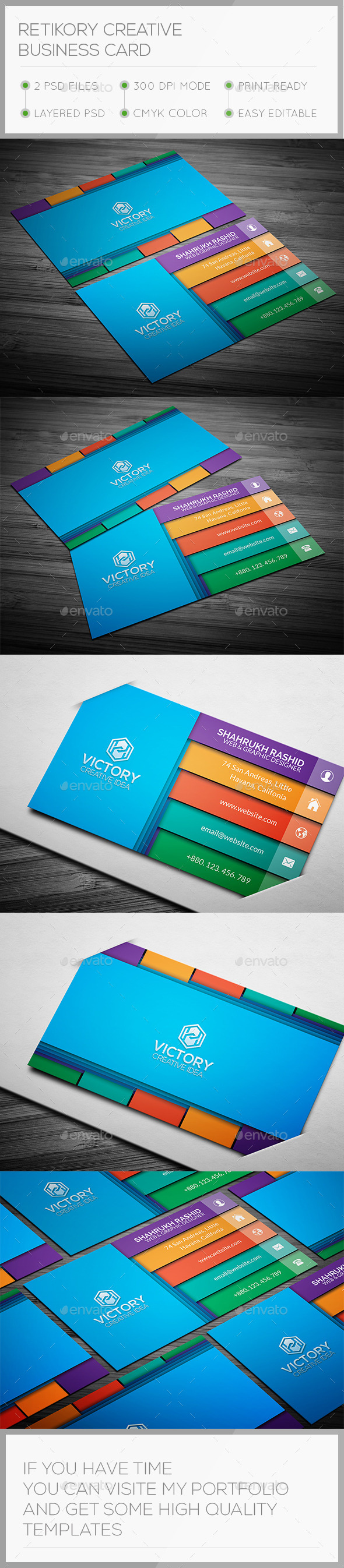 GraphicRiver Retkory 3D Creative Business Card 10731091