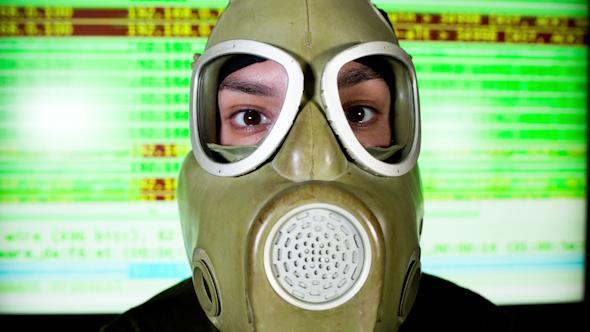 VideoHive Person Wearing Gasmask 32 10731226