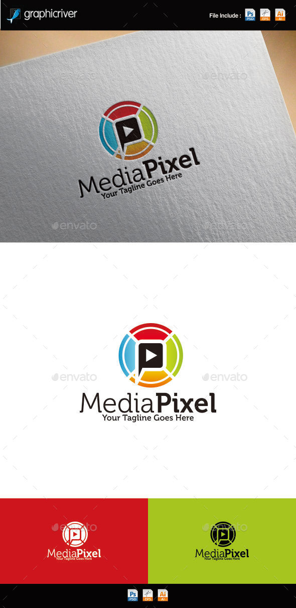 GraphicRiver Media Pixel Logo 10731449