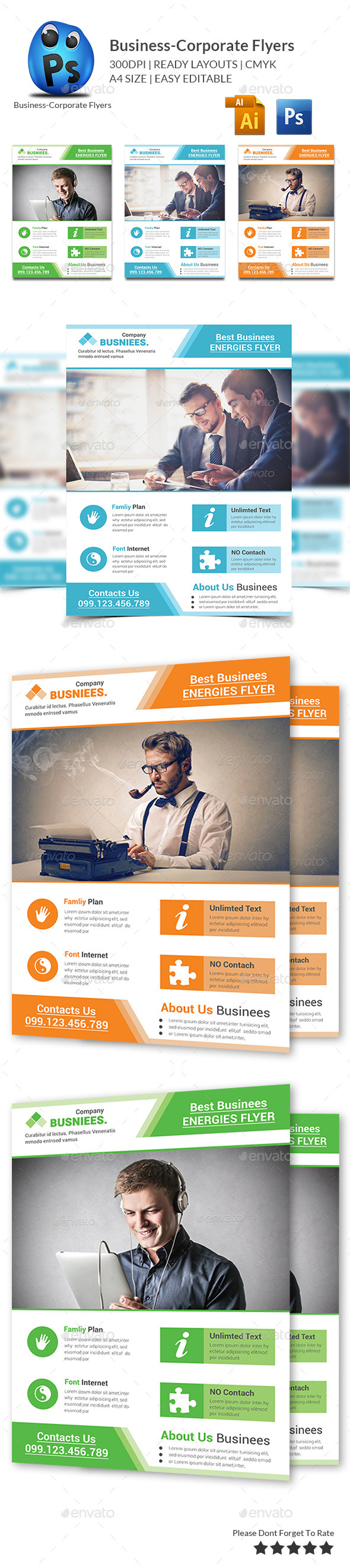 GraphicRiver Creative Business Flyer Print Templates 10731785