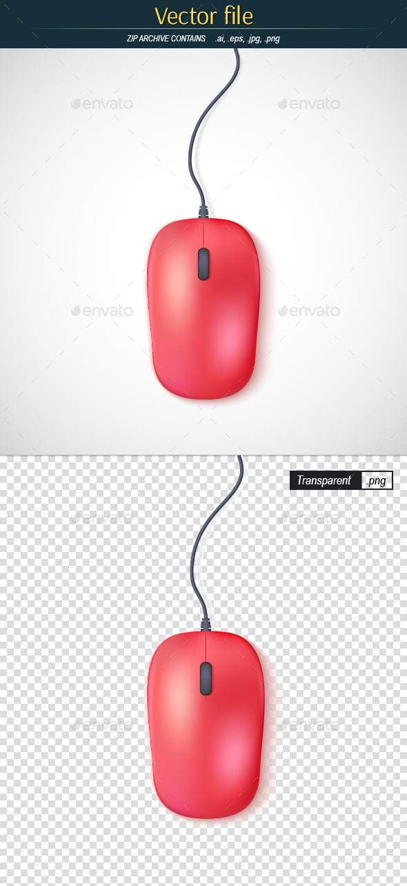 GraphicRiver Red Computer Mouse 10732144