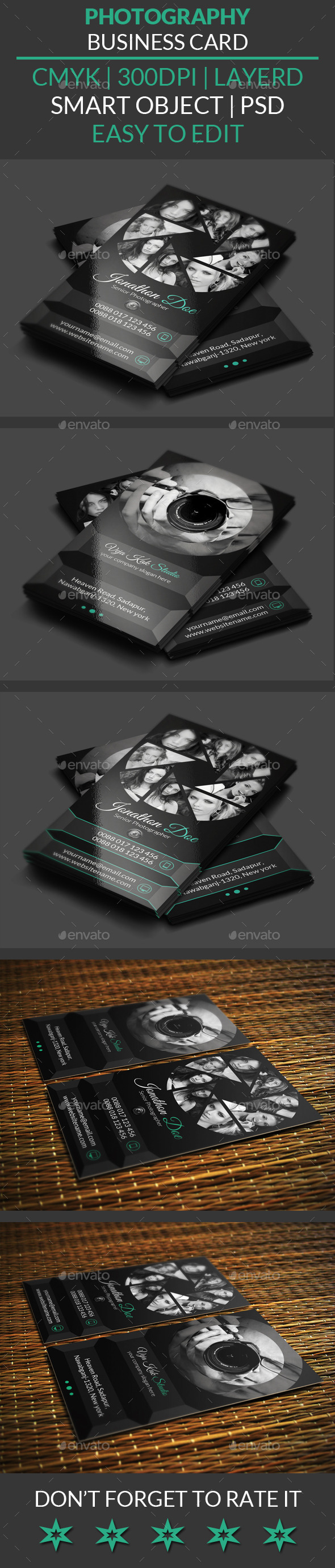 GraphicRiver Photography Business Card 10732194