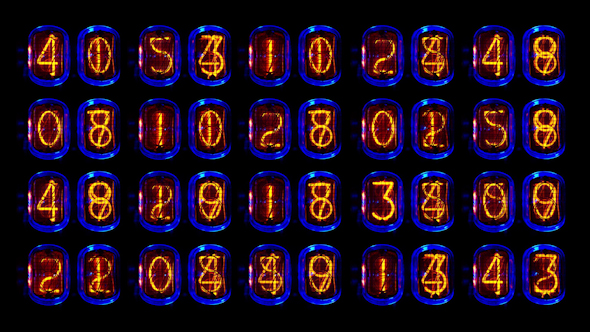Nixie Clock Numerical Counter Videowall 1