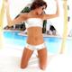 Beautiful Bikini Girl Posing Luxury Hotel Pool 1 - VideoHive Item for Sale
