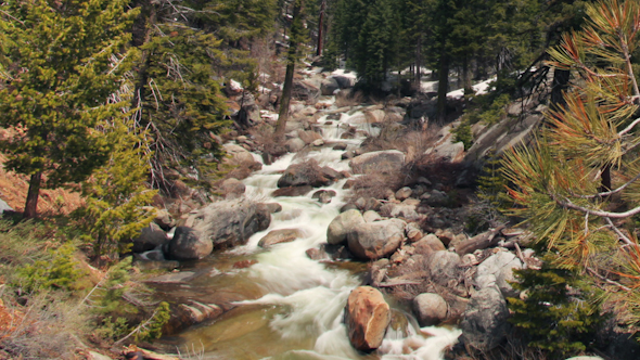 Waterfall Sequoia National Park California Usa 5