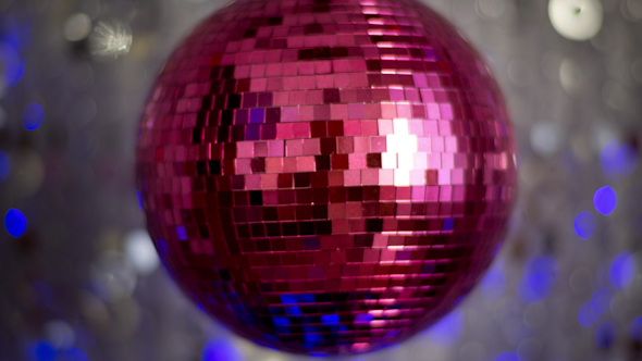 Pink Discoball 56