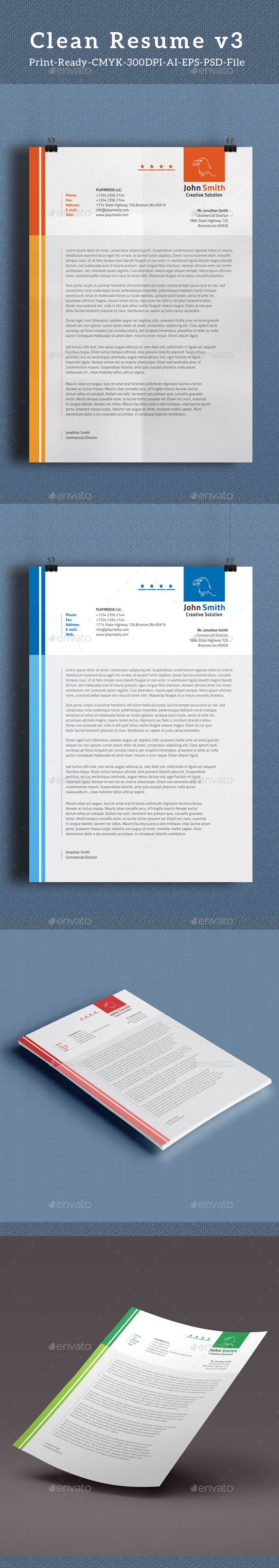 GraphicRiver Corporate Letterhead Vol.3 10733447