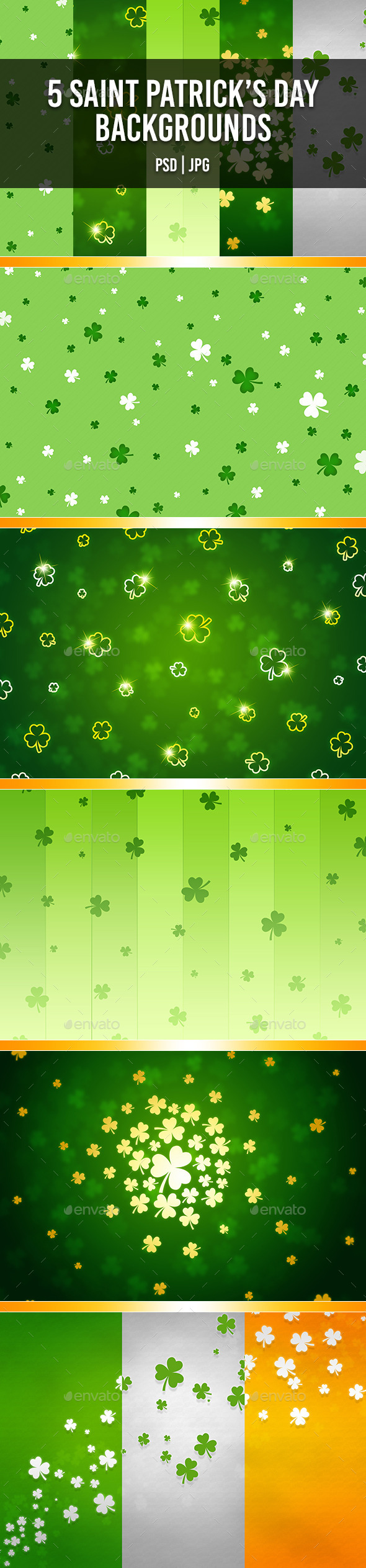 GraphicRiver Saint Patrick s Day Backgrounds 10733570