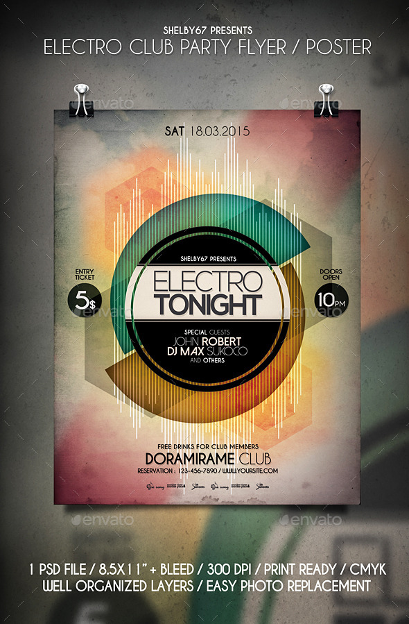 GraphicRiver Electro Club Party Flyer Templates 10733571