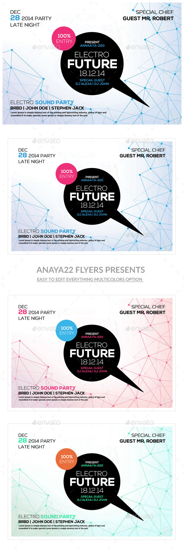 GraphicRiver Futuristic Flyer Psd Templates 10733624