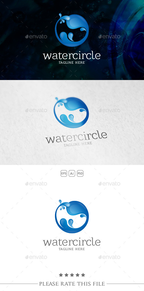 GraphicRiver Water Logo 10733909
