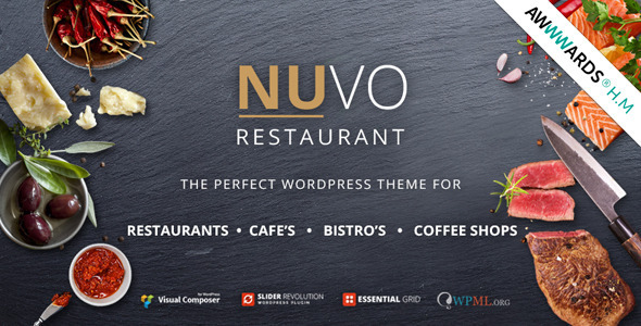 NUVO - Restaurant, Cafe & Bistro Wordpress Theme - Restaurants & Cafes Entertainment